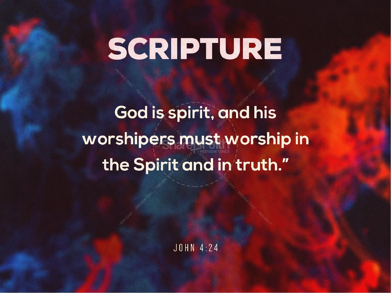 Spirit And Truth Worship Service PowerPoint