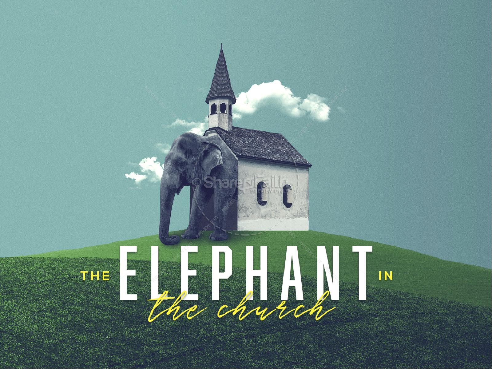 The Elephant In The Church Sermon Graphic