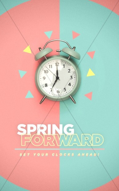 Spring Forward Alarm Clock Bulletin Cover