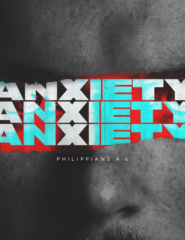 Anxiety Church Service Flyer