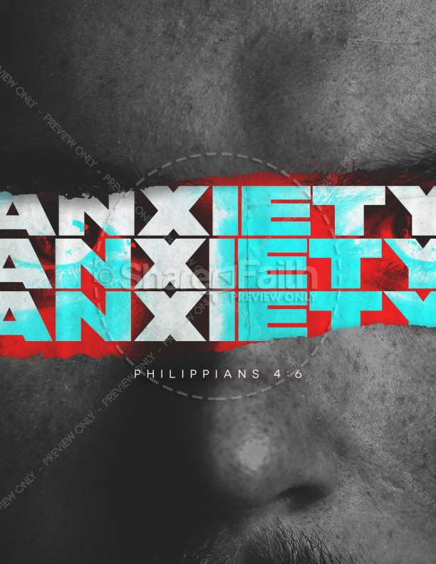 Anxiety Church Service Flyer