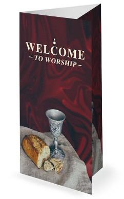 Communion Sunday Service Trifold Bulletin Cover