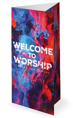 Spirit And Truth Worship Service Trifold Bulletin