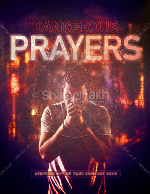 Dangerous Prayers Church Flyer Template