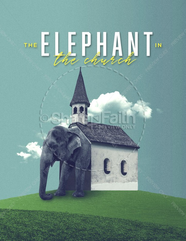 The Elephant In The Church Flyer Template