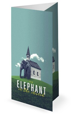 The Elephant In The Church Sermon Trifold Bulletin