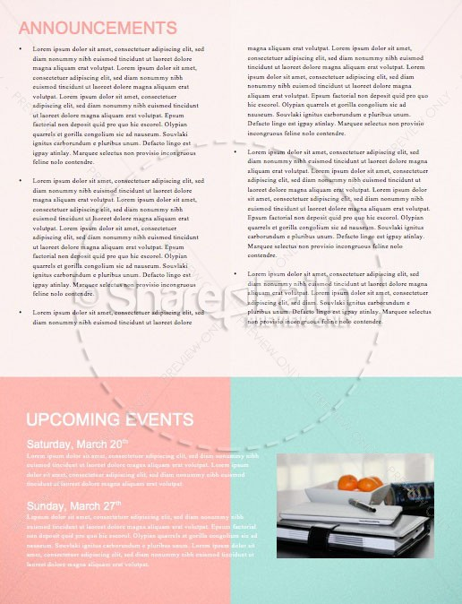 Spring Forward Alarm Clock Newsletter Template