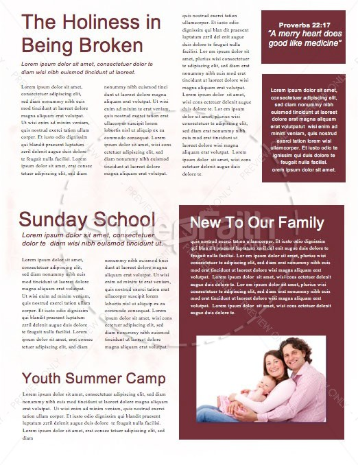 Dangerous Prayers Church Newsletter Template