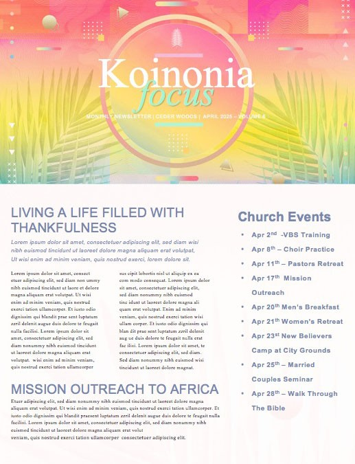Palm Sunday The King Is Coming Church Newsletter