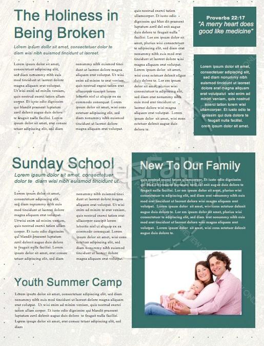 Good Friday Church Service Newsletter