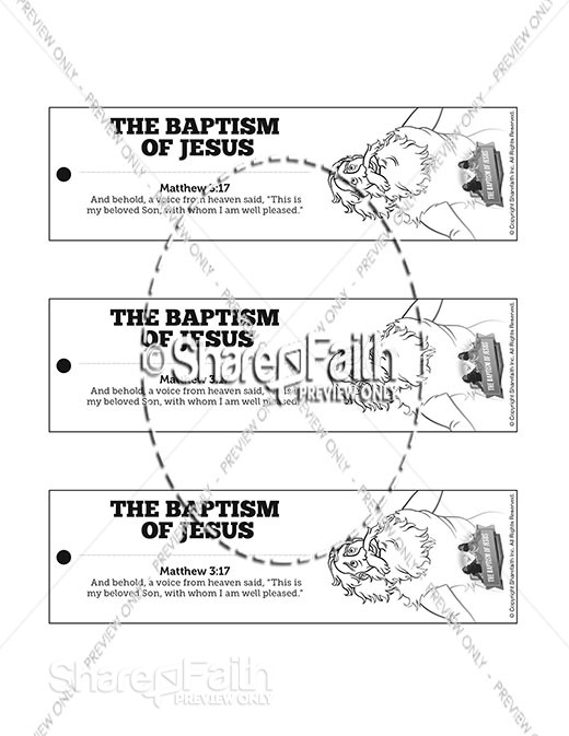 Matthew 3 The Baptism of Jesus Bible Bookmarks