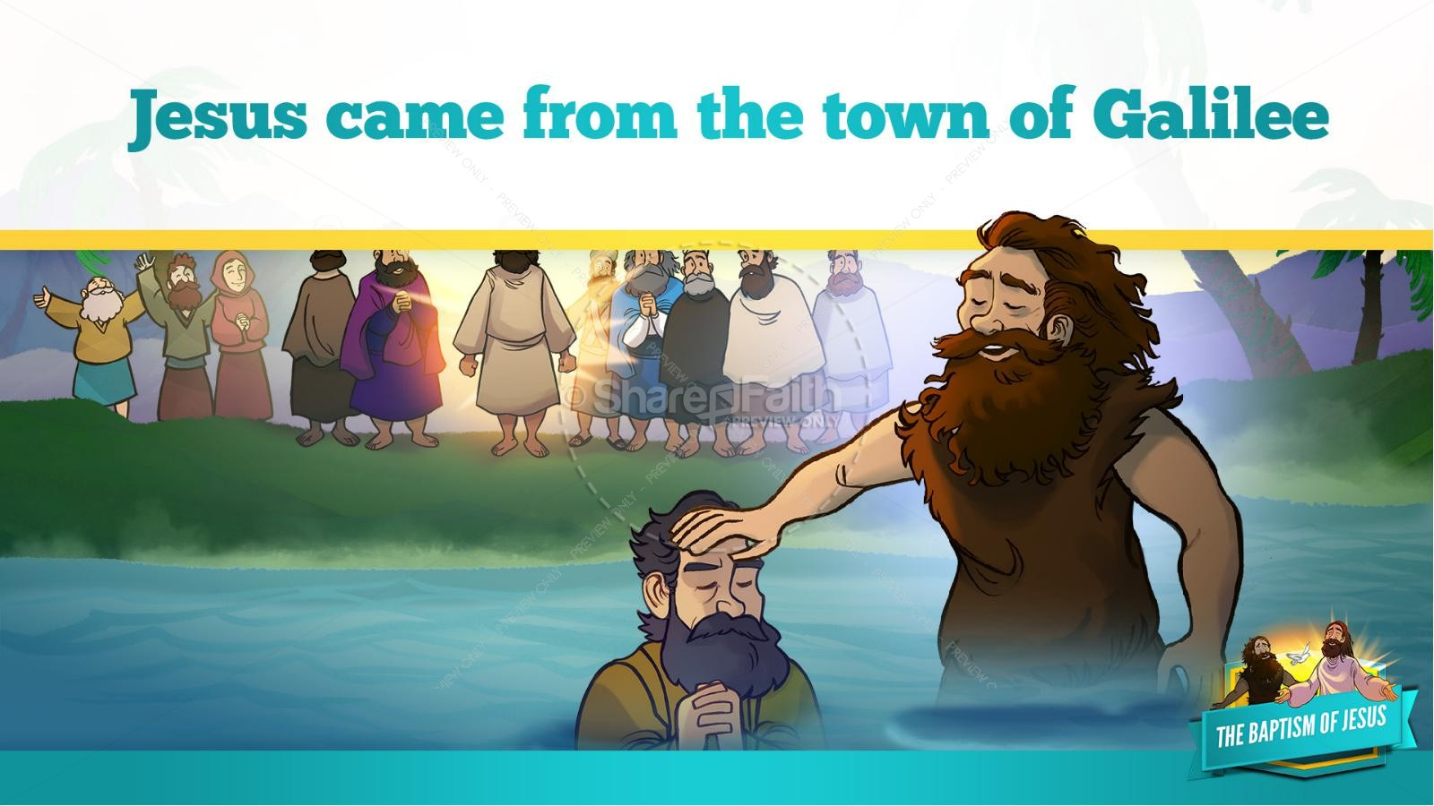 Matthew 3 The Baptism of Jesus Kids Bible Story