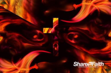 Abstract Galaxy Cross Worship Video Background