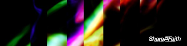 Abstract Galaxy Rainbow Triple Wide Motion Background