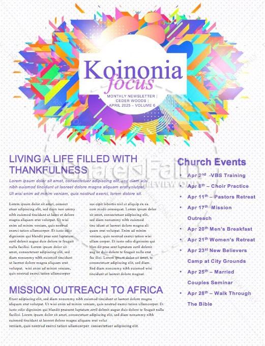 Church Easter Service Newsletter