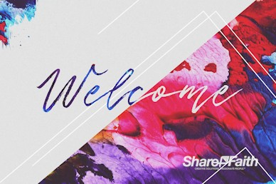 Easter Love Has Come Welcome Motion Graphic
