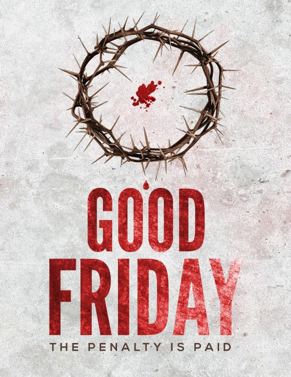 Crown of Thorns Good Friday Church Flyer