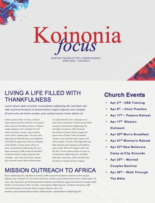 Easter Love Has Come Church Newsletter