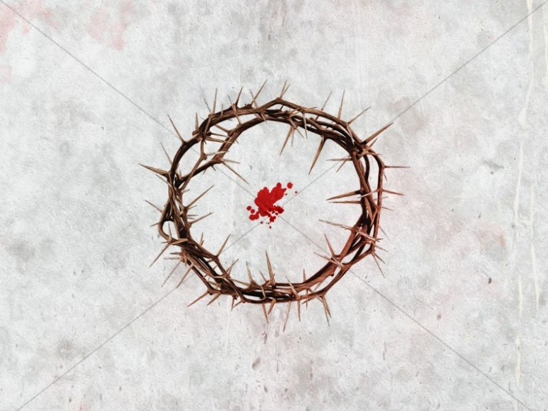 Crown of Thorns Good Friday Worship Background