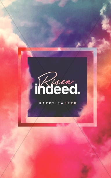 Risen Indeed Easter Sermon Bulletin