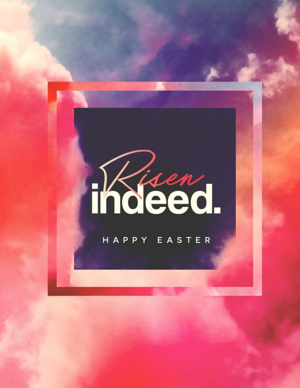 Risen Indeed Easter Church Flyer