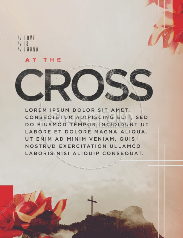 At The Cross Sermon Flyer
