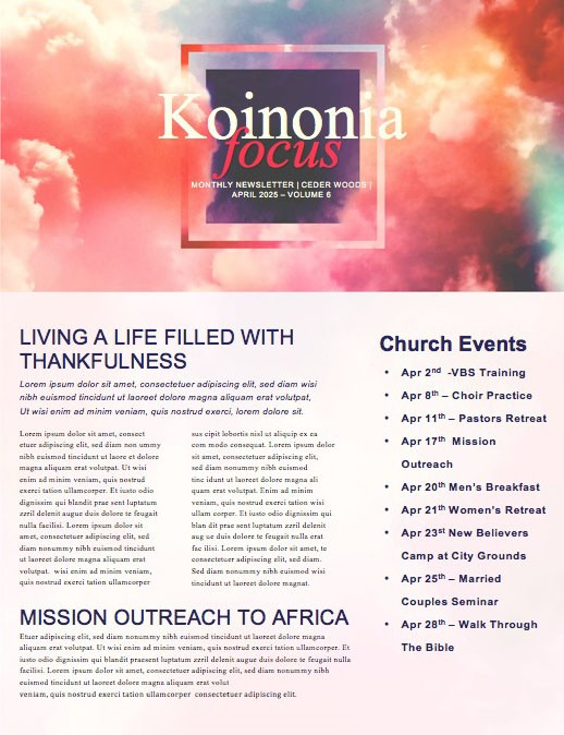 Risen Indeed Easter Church Newsletter