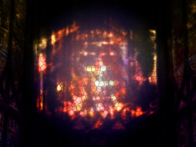 Stained Glass Window Grunge Worship Background