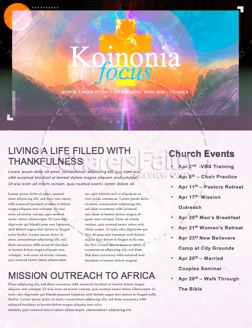 Freedom Through Christ Church Newsletter
