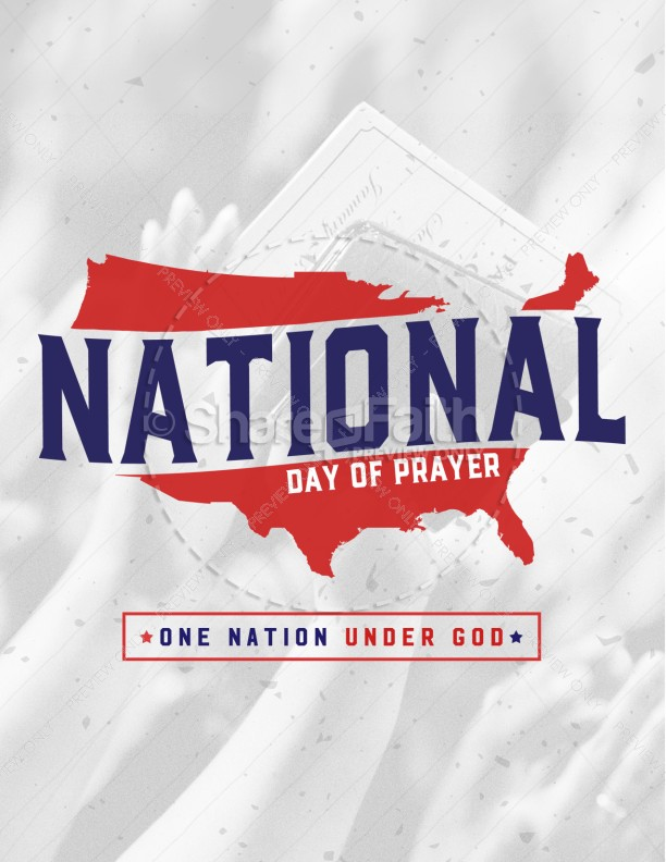 American National Day of Prayer Flyer Template