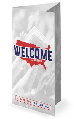 American National Day of Prayer Trifold Bulletin Cover