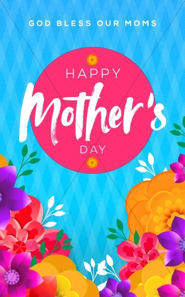 Happy Mother's Day Flowers Service Bulletin