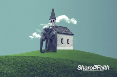 The Elephant In The Church Motion Background