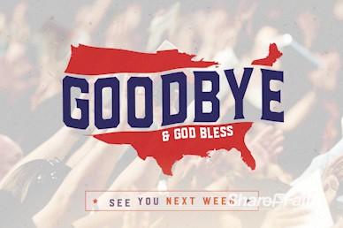 American National Day of Prayer Goodbye Motion Loop