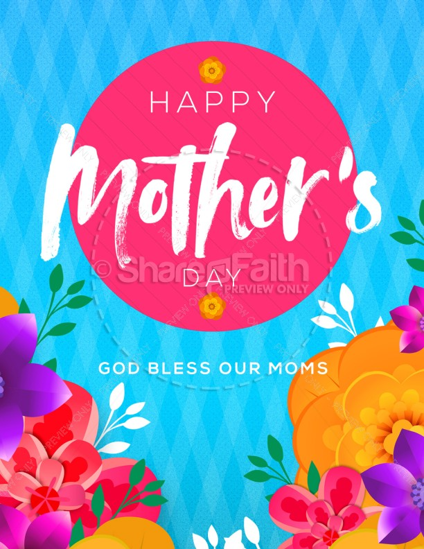 Happy Mother's Day Flowers Service Flyer