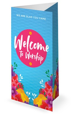 Happy Mother's Day Flowers Service Trifold Bulletin