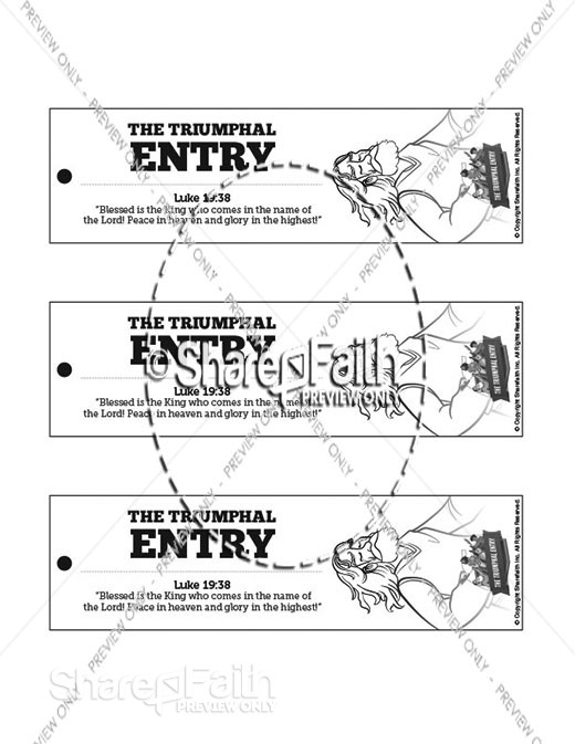 Luke 19 The Triumphal Entry Bible Bookmarks