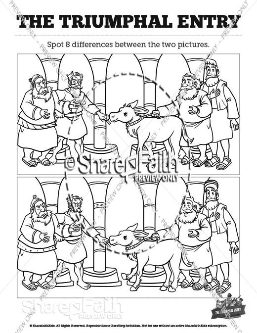 Luke 19 The Triumphal Entry Spot the Differences