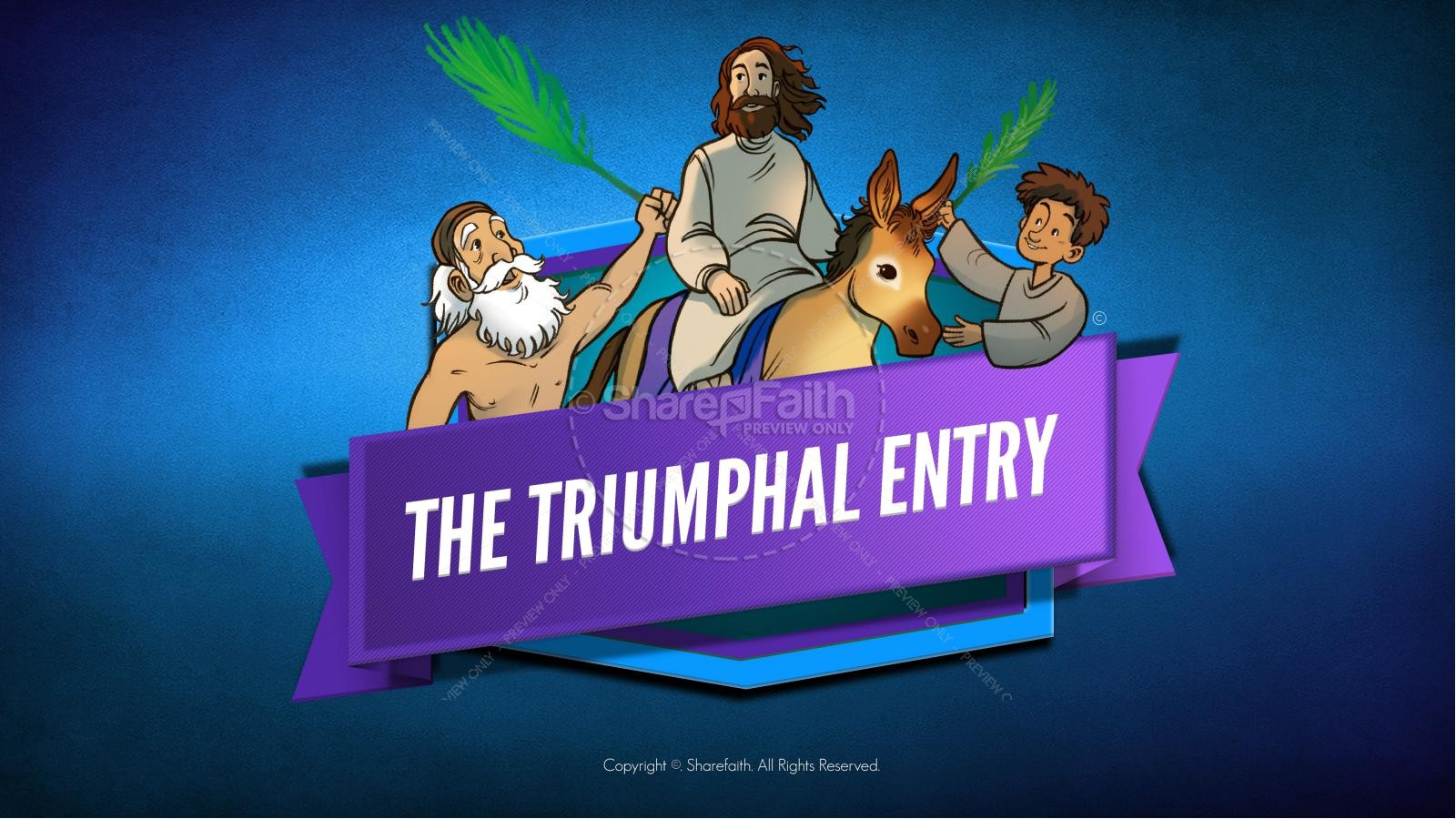 Luke 19 The Triumphal Entry Kids Bible Story