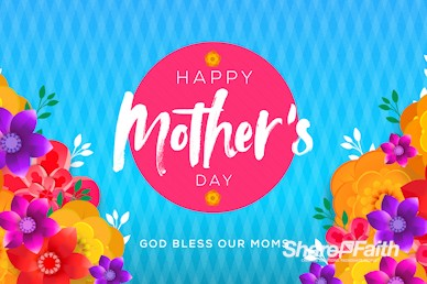 Happy Mother's Day Flowers Motion Graphic