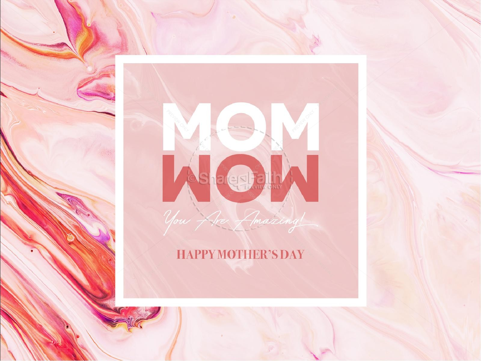 Mom Wow Mother's Day Service Graphic