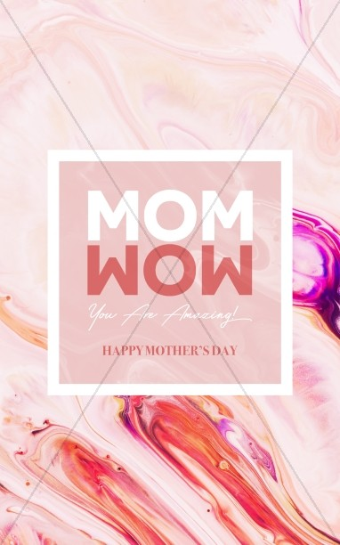 Mom Wow Mother's Day Service Bulletin