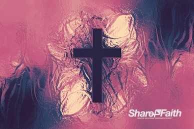 Metallic Cross Colorful Texture Worship Motion Background