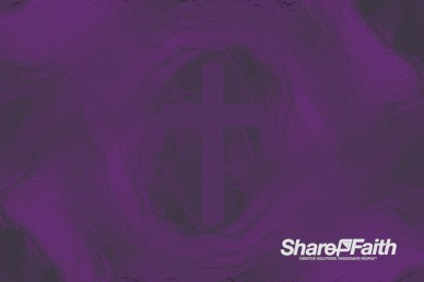 Amethyst Cross Colorful Texture Worship Video