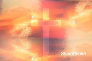 Sunrise Cross Colorful Texture Worship Motion Background