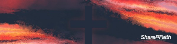 Sunset Cross Colorful Texture Triple Wide Motion Background