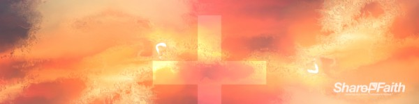 Sunrise Cross Colorful Texture Triple Wide Video Background