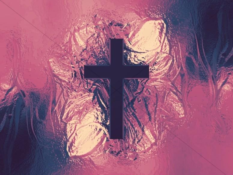 Metallic Cross Colorful Texture Worship Background