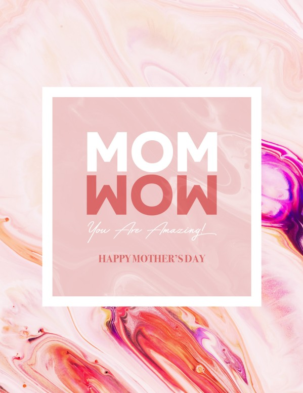 Mom Wow Mother's Day Service Flyer