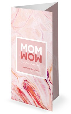 Mom Wow Mother's Day Service Trifold Bulletin